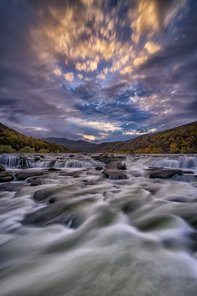 Dusk at Sandstone Falls | Shop Photography by Rick Berk