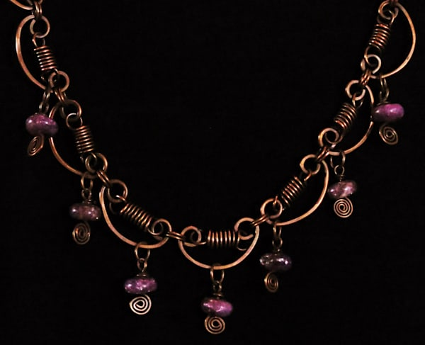 """""""Copper And Sugilite Necklace""""  Art 