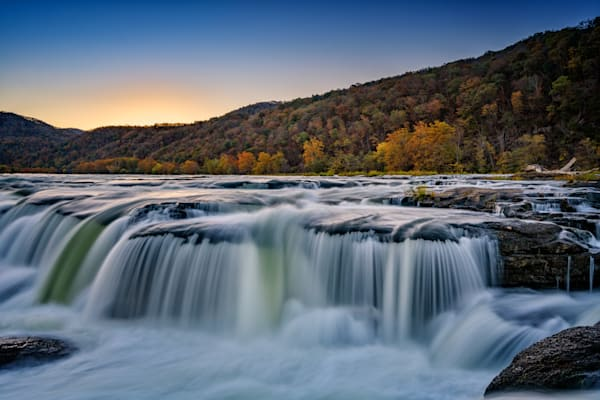 Day's End at Sandstone Falls | Shop Photography by Rick Berk