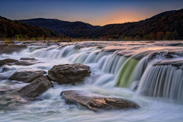 Twilight at Sandstone Falls | Shop Photography by Rick Berk