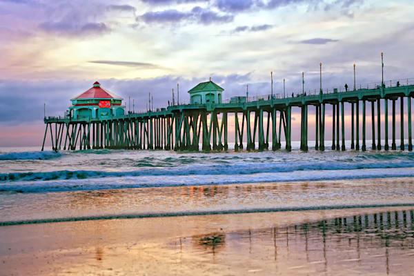 Huntington Beach Pier   Sunset Photography Art | Rosanne Nitti Fine Arts