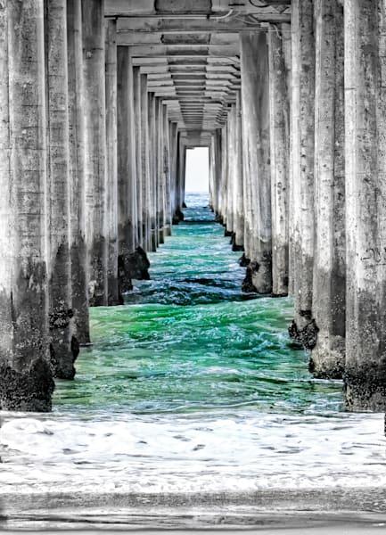 Huntington Beach Pier   Under The Pier Photography Art | Rosanne Nitti Fine Arts