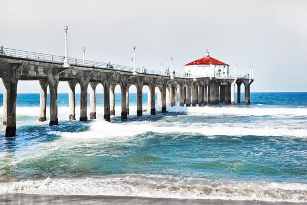 Manhattan Beach Pier   Full Pier Photography Art   Rosanne Nitti Fine Arts
