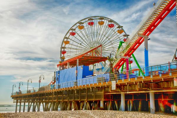 Santa Monica Pier Full Color Photography Art | Rosanne Nitti Fine Arts