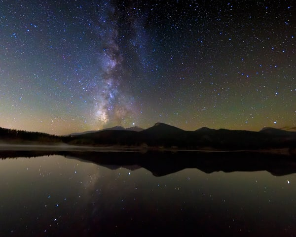 A Mirror of the Night at Lily Lake