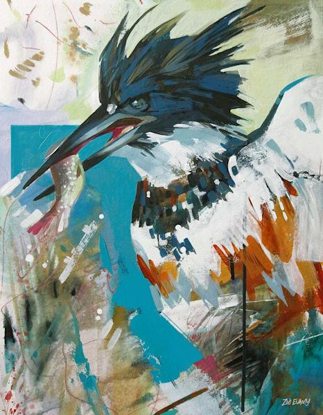 Evamy Kingfisher Open Store Art | Studio Zed