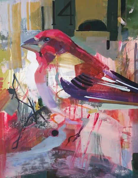 Evamy Purple Finch Open Store Art | Studio Zed
