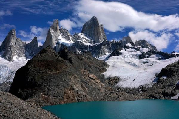 Mount Fitz Roy, Cerro Fitz Roy, Cerro Chaltén, Monte Fitz Roy, El Chalten, Argentina, Patagonia, Field,South America