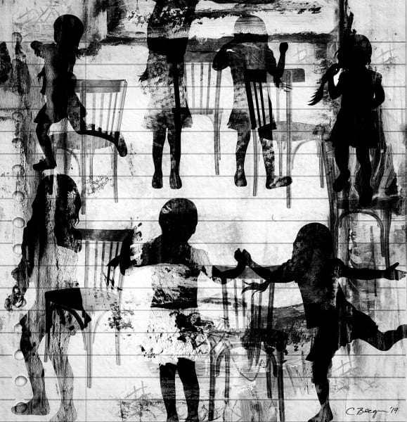 Musical Chairs No. 1, Print, 2019 by artist Carolyn A. Beegan
