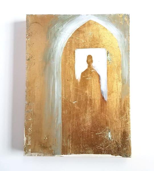 """Entrance"" Mixed Media Painting 6x8"