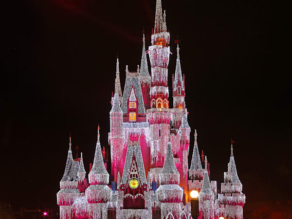 Brilliant Pink Disney Christmas - Disney Art for Sale | William Drew Photography