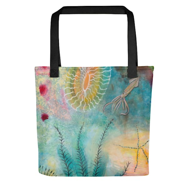 The Squid Tote Bag by Debbie Dicker - Art