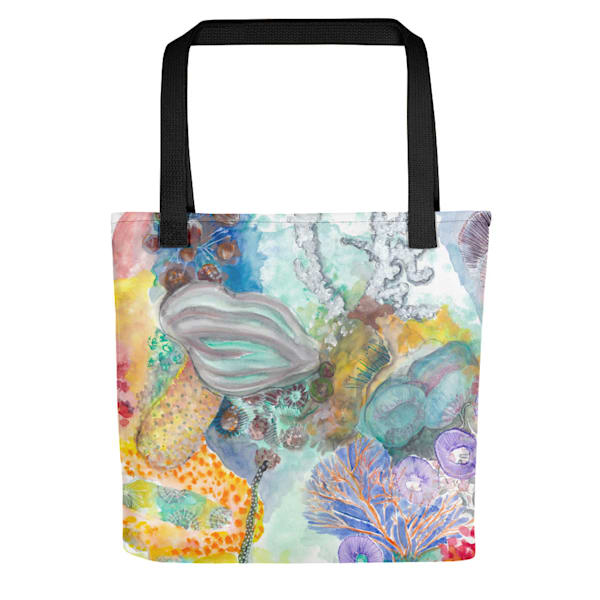 Under Sea Watercolor Tote by Debbie Dicker - Art