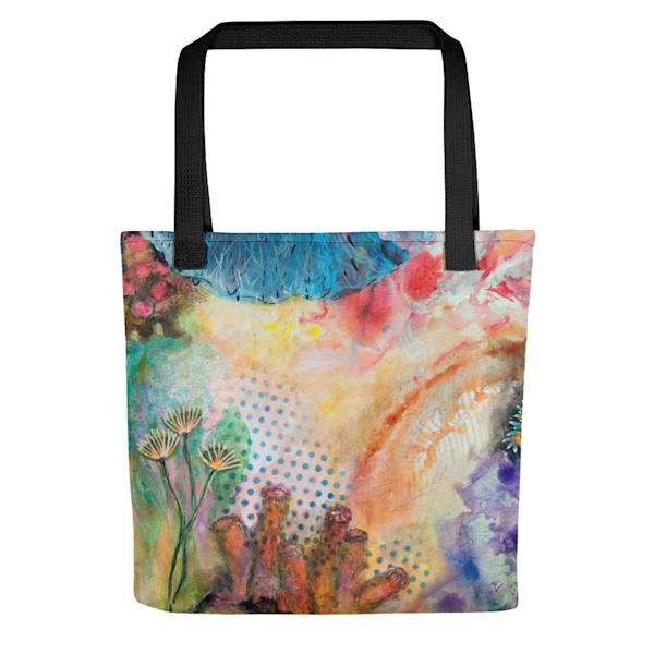Nudibranch And Coral Tote by Debbie Dicker - Art