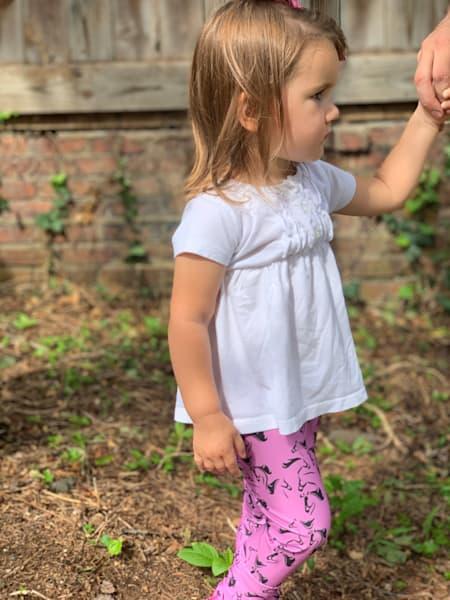 Children's Legging Days of Our Horses (pink)