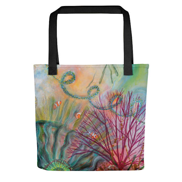 Sea Anenome Tote by Debbie Dicker - Art