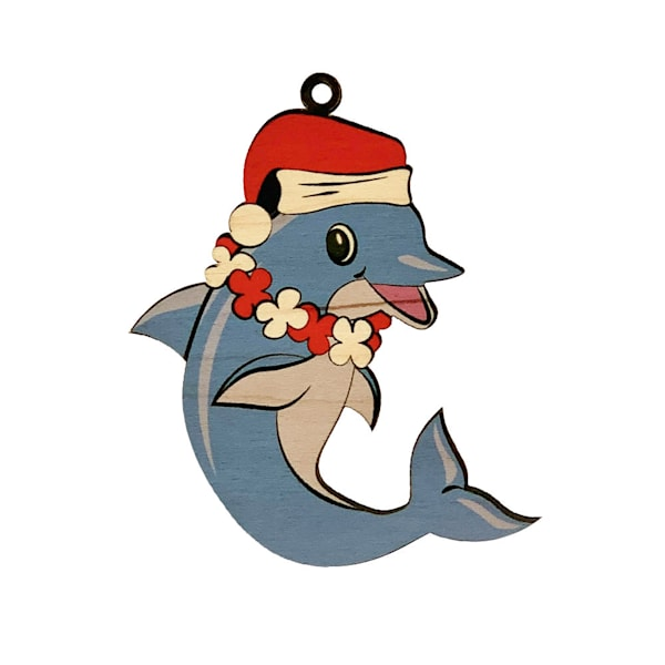 Christmas Dolphin Ornament | Pictures Plus
