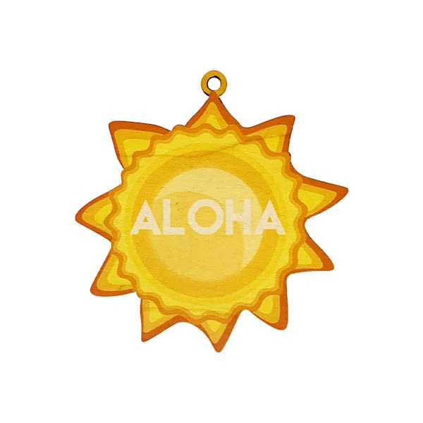 Christmas Aloha Sun Ornament