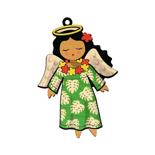 Hawaiian Angel Ornament