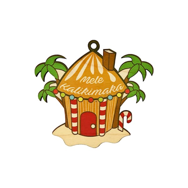 Hawaiian Gingerbread House Ornament