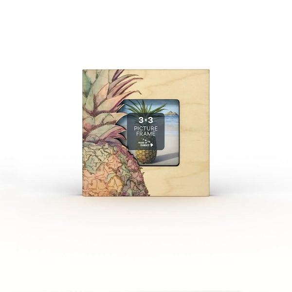 Watercolor Pineapple Cut Detail Mini Frame