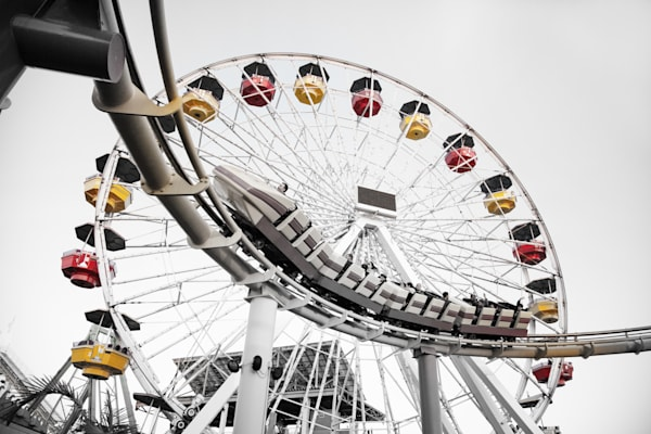 Santa Monica Coaster Photography Art   Rosanne Nitti Fine Arts