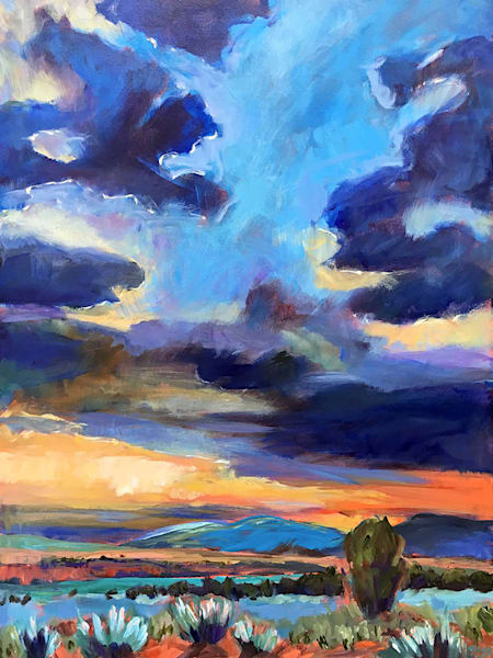 Evening Light On Cebolla Mesa Art by fineart-new mexico