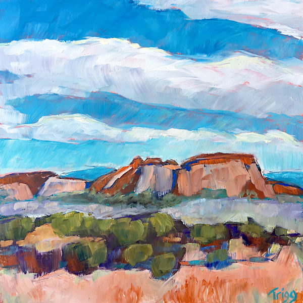 Peaks By Alcalde Art by fineart-new mexico