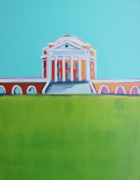 UVA ROTUNDA PRINT 5 X 7 BLUE