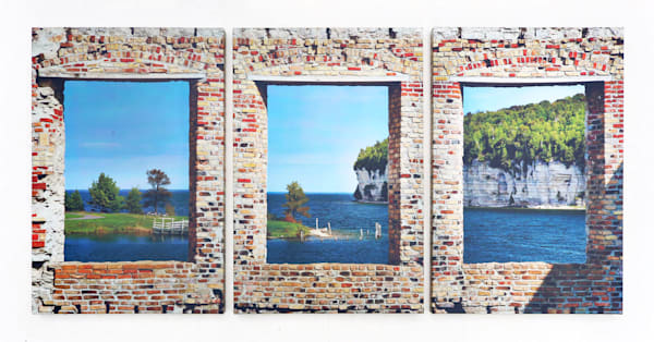 """Bay View"" - Large Triptych"