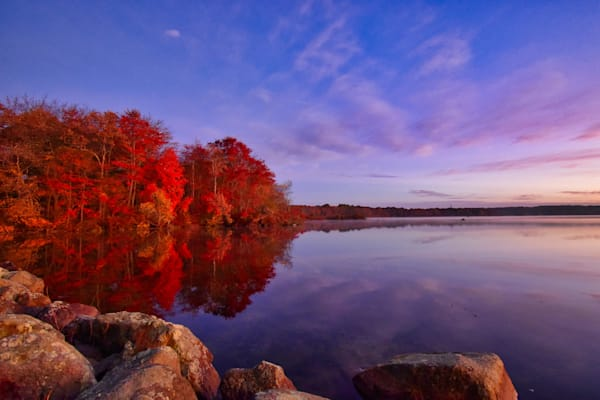 Limited Edition - Autumn Colors  By The Dock by Keith R Wahl, Made From RI Gallery