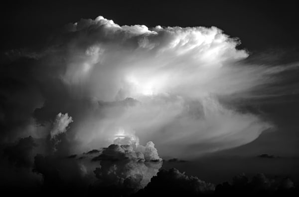 Thunderhead, evening sunlight, Texas
