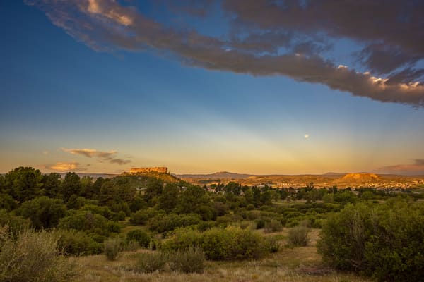 Photo of Castle Rock Colorado Sunrise & Dramatic Rays of Light
