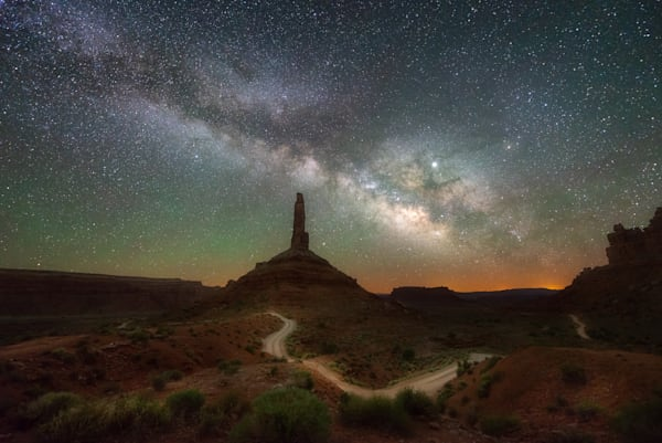Valley of the Gods at Night in the Four Corners area of Utah. Fine art photography by Mike Taylor of Taylor Photography.