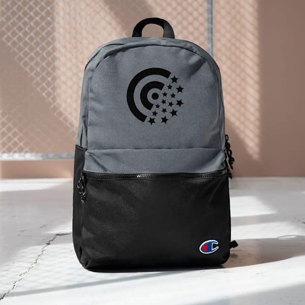 Black Label Embroidered Champion Backpack