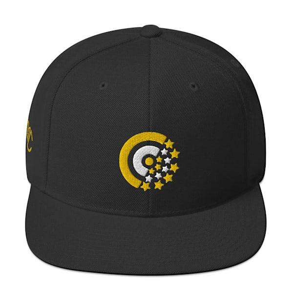 Snapback Hat White Gold Label