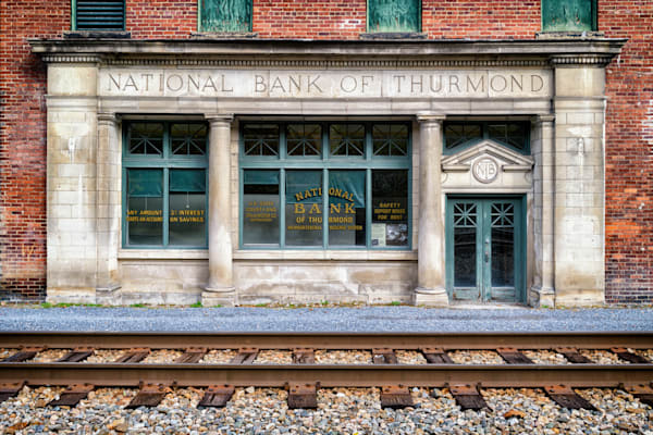 National Bank of Thurmond | Shop Photography by Rick Berk