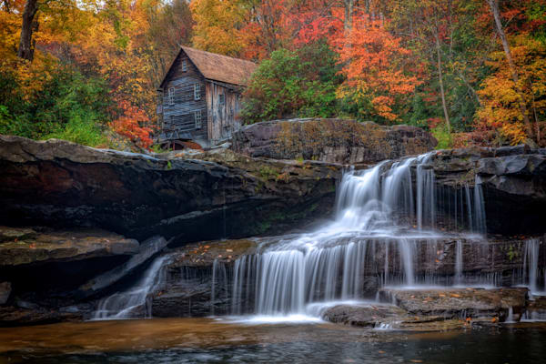 Fall at the Glade Creek Grist Mill | Shop Photography by Rick Berk