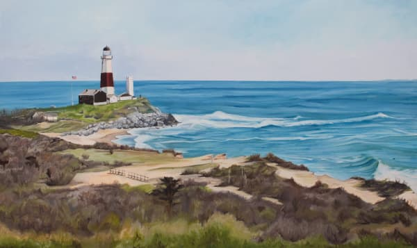 Sets At The Point - 1, Archival print by Montauk fine artist, Candace Ceslow