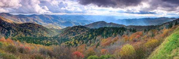Rays Of Cowee Mountains Pan Photography Art | Red Rock Photography