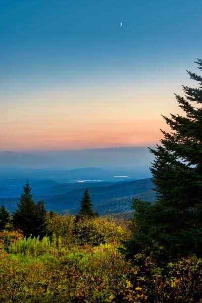 Twilight moon over The Berkshires