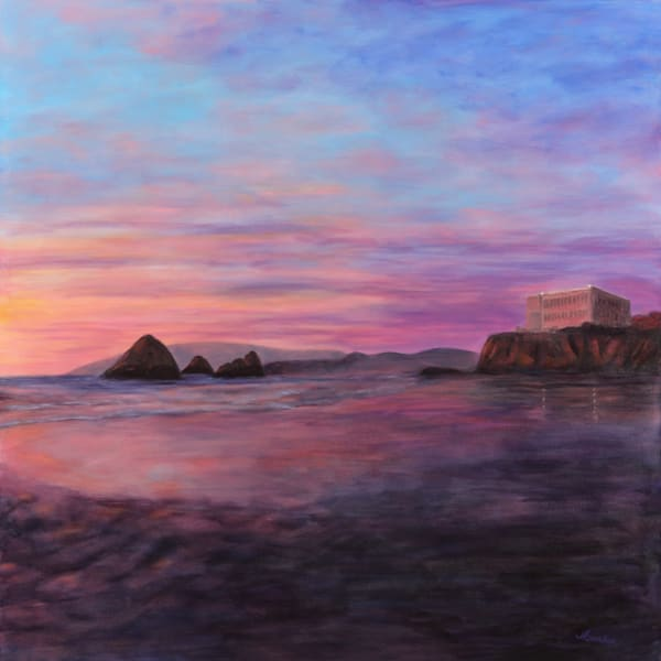 Cliff House Sunset Art | Janet Arline Barker Fine Art