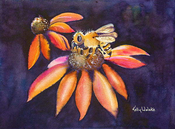 """In Honor Of The Bee"" fine art print by Kelly Wolske."