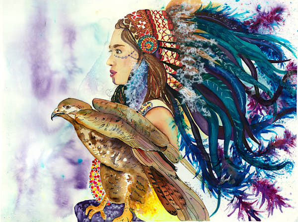 """Wind Hunter"" fine art print by Kelly Wolske."