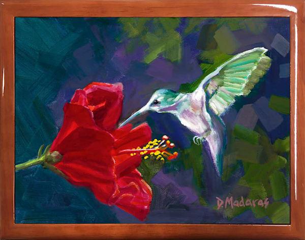 Wooden Keepsake Box   Southwest Gifts   Hummingbird