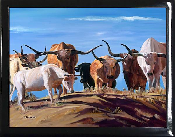 Cow Wooden Keepsake Boxes | Southwest Art Gifts | Tucson