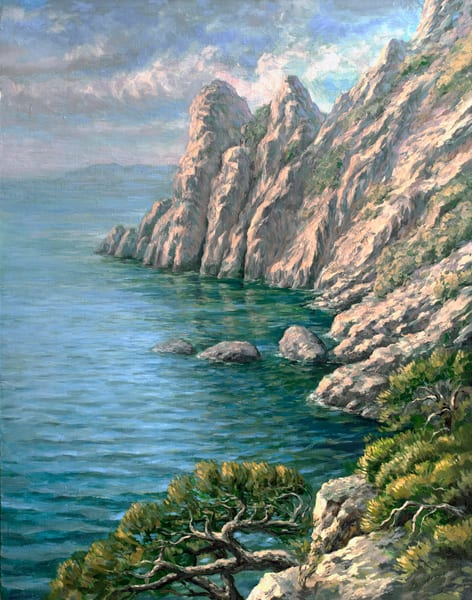Sea by Ruslan Vigovsky an Ukrainian painter.