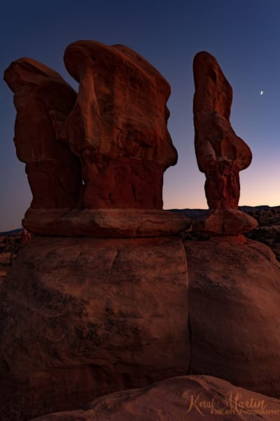 Devils Garden Three Sisters at Sunset Photo 2597 | Escalante Photography | Koral Martin Fine Art Photography