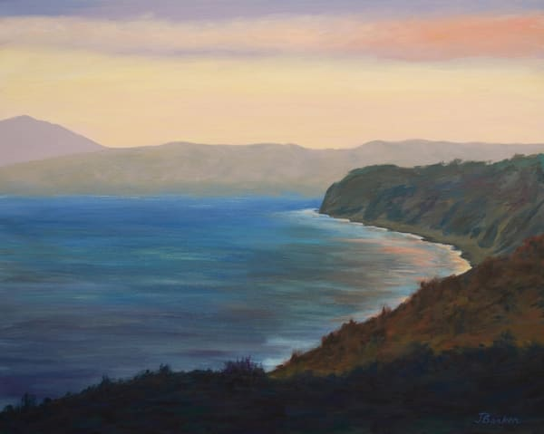 Sunset Colors North Of Pacifica Art | Janet Arline Barker Fine Art