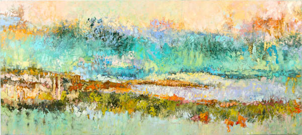 Commissioned paintings tracy lynn pristas 48 x 108 commission residential water music ofct5i